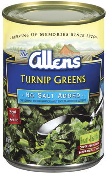 The Allens No Salt Added Turnip Greens 14 Oz Can