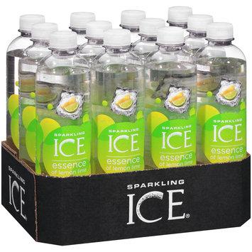 Sparkling Ice® Essence of Lemon Lime Sparkling Water 12-17 fl. oz. Bottles