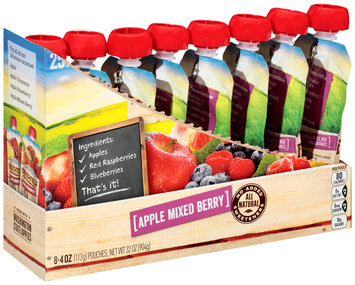 Smucker's® Fruit-Fulls™ Apple Mixed Berry Pure Blended Fruit 8-4 oz. Pouches