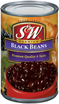 S&W  Black Beans 15 Oz Can
