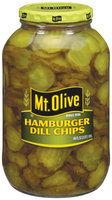 Mt. Olive Hamburger Dill Chips Pickles 64 Oz Jar