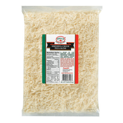 Stella® Pizza 4 Cheese Shredded Cheese Blend 5 Lb Bag
