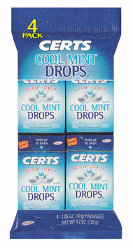 Certs Peppermint W/Retsyn Center Cool Mint Drops 4 Pk Peg