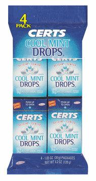 Certs Peppermint W/Retsyn Center Cool Mint Drops 4 Pk Peg