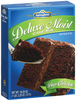 Springfield Deluxe Moist Deep Chocolate Cake Mix 18.25 Oz Box