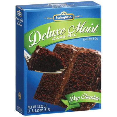 Springfield Deluxe Moist Deep Chocolate Cake Mix 18.25 Oz Box