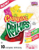 Betty Crocker® Fruit Roll-Ups™ Carnival Fruit Flavored Snacks Variety Pack