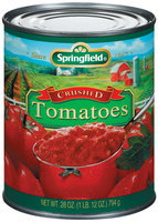 Springfield Crushed Tomatoes 28 Oz Can