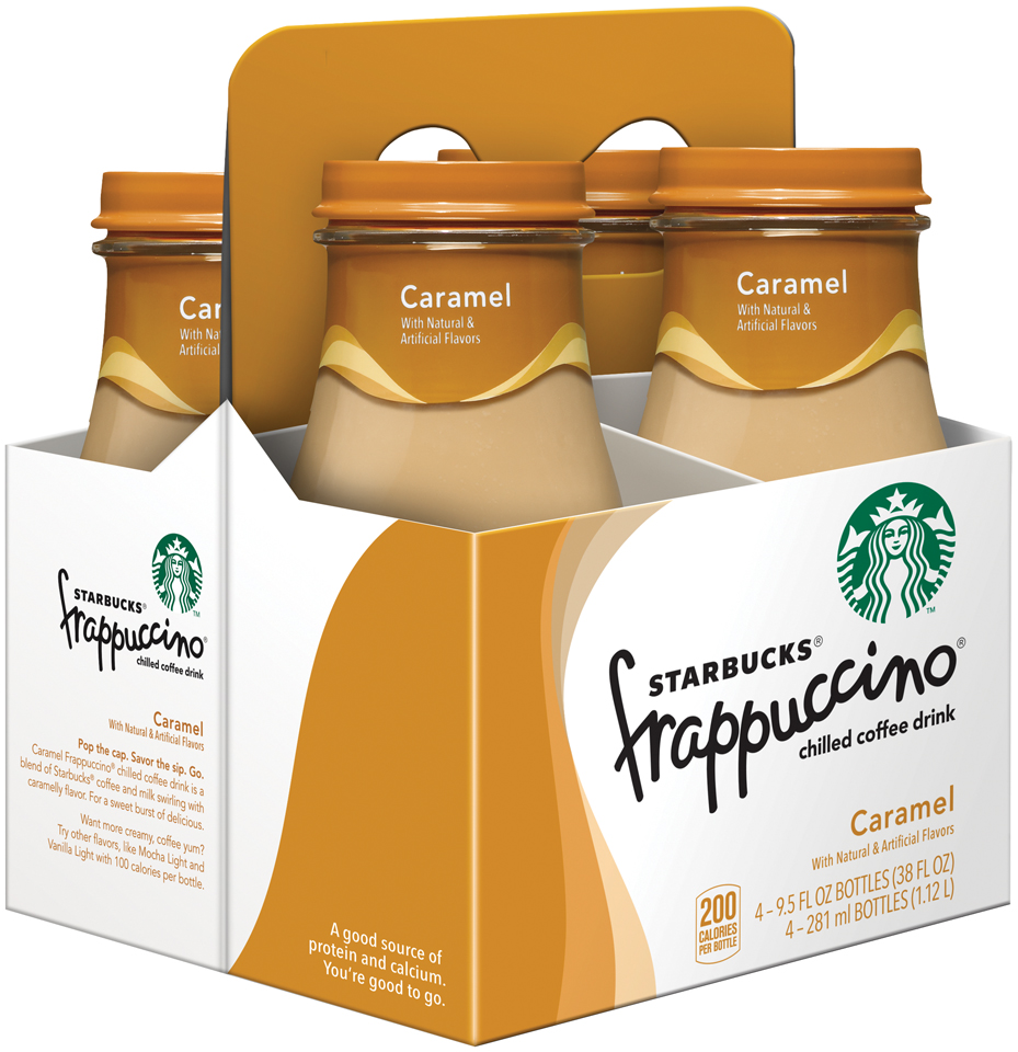 Starbucks® Caramel Frappuccino® Coffee Drink 4 Pack 9.5 fl. oz. Glass Bottles