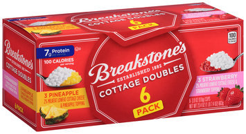Breakstone's Cottage Doubles Cottage Cheese & Pineapple Topping/Cottage Cheese & Strawberry Topping Variety Pack 6-3.9 oz. Cups