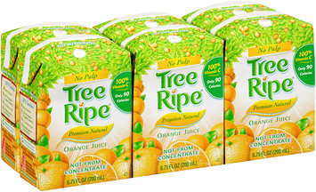 Tree Ripe® No Pulp Natural Orange Juice 6-6.75 fl. oz. Aseptic Packs
