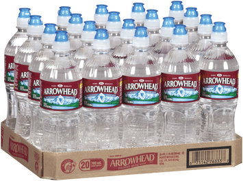Arrowhead Mountain Spring Water 20-700mL Sports Bottles with Flip Cap