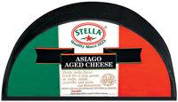 Stella® Asiago Aged Half Wheel Black Wax Cheese 11 Lb Wheel