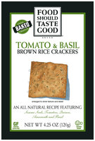 Food Should Taste Good® Tomato & Basil Brown Rice Crackers 4.25 oz. Box