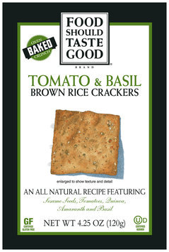 Food Should Taste Good Tomato & Basil Brown Rice Crackers
