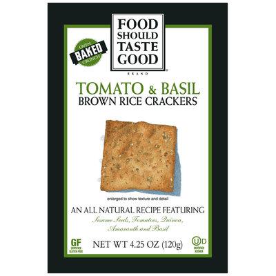 Food Should Taste Good Tomato & Basil Brown Rice Crackers