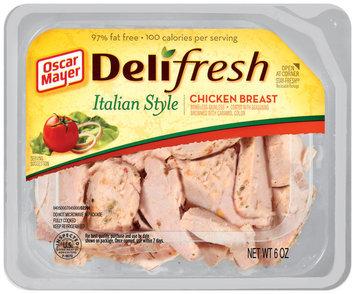 Oscar Mayer Deli Fresh Italian Style 97% Fat Free Chicken Breast 6 Oz Tray