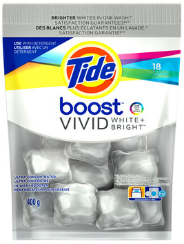 Tide Boost Vivid White + Bright™ High Efficiency In-Wash Booster 18 ct Pouch