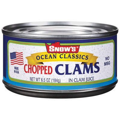 Snow's Ocean Classics Chopped In Clam Juice Clams 6.5 Oz Can