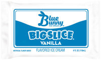 Blue Bunny™ Big Slice® Vanilla Flavored Ice Cream 4 fl. oz. Wrapper