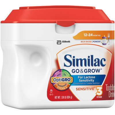 Similac Go & Grow® Stage 3 Sensitive® Toddler Drink 1.38 lb. Canister