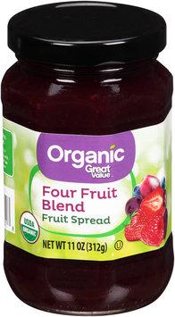 Great Value™ Organic Four Fruit Blend Fruit Spread 11 oz. Jar