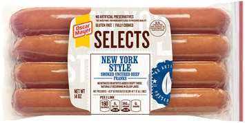 Oscar Mayer Selects New York Style Beef Franks