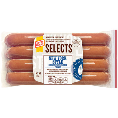 Oscar Mayer Selects New York Style Beef Franks 14 oz. Pack