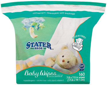 Stater Bros. Unscented Baby Wipes 160 Ct