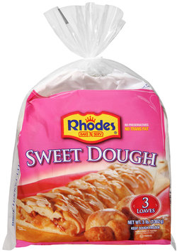 Rhodes Bake-N-Serv® Frozen Sweet Dough 3 ct Bag