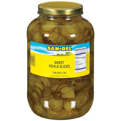 San-Del Sweet  Pickle Slices 1 Gal Jar