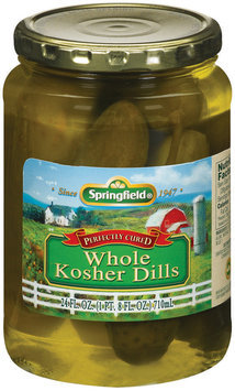 Springfield Whole Kosher Dills Pickels 24 Fl Oz Jar