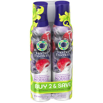Herbal Essences Totally Twisted Curl Boosting Mousse for Curly Hair Twin Pack