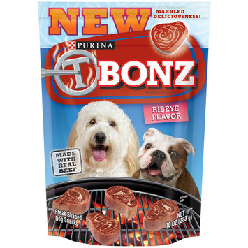 Purina T Bonz Ribeye Flavor Dog Snacks 10 oz. Pouch
