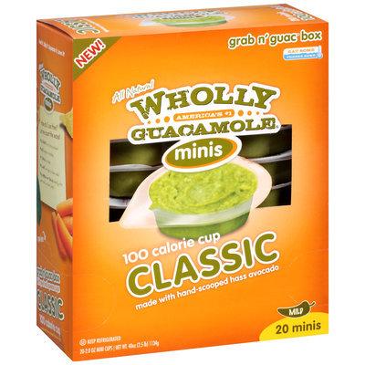 Wholly Guacamole® Mild Classic Guacamole Minis 20-2 oz. Mini Cups