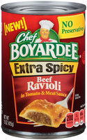 Chef Boyardee® Extra Spicy Beef Ravioli in Tomato & Meat Sauce 15 oz. Can