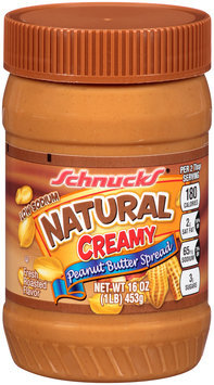 Schnucks® Natural Creamy Peanut Butter Spread 16 oz. Plastic Jar