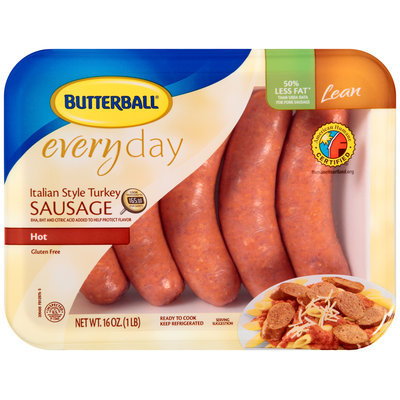 Butterball® Everyday Lean Italian Style Turkey Sausage Hot Links 5 ct Tray