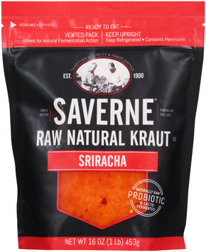Saverne® Raw Natural Sriracha Kraut 16 oz. Pouch