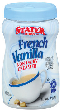 Stater Bros. French Vanilla Non-Dairy Creamer 8 Oz Plastic Container