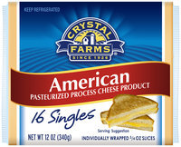 Crystal Farms® American Cheese Slices 16 ct, 12 oz Wrapper