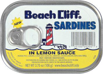 Beach Cliff® Sardines in Lemon Sauce 3.75 oz. Tin