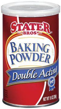 Stater Bros. Double Acting Baking Powder 10 Oz Canister
