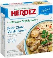 Herdez™ Cocina Mexicana™ Pork Chile Verde Bowl, 10 oz. Box