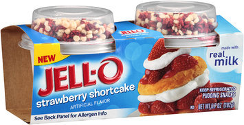 Jell-O Strawberry Shortcake Pudding Snacks 2 ct Cups