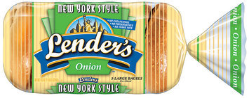 Lender's Frozen New York Style Onion 5 Ct Bagels 16.5 Oz Bag
