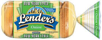 Lender's Frozen New York Style Onion 5 Ct Bagels 16.5 Oz Bag