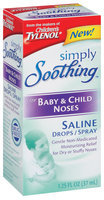 Tylenol® Saline Drops/Spray For Baby & Child Noses Simply Soothing™ 1.25 Fl Oz Box