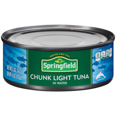 Springfield® Chunk Light Tuna in Water 5 oz. Can