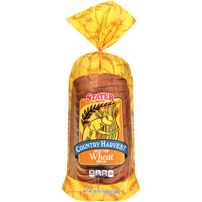 Stater Bros.® Country Harvest Split Top Wheat Bread 24 oz. Bag